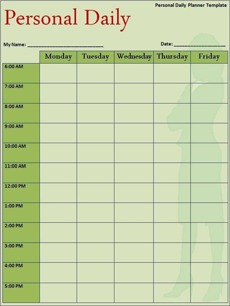 Daily Planner Template Free Daily Schedule Templates Quotes Lol - day to day planner template free
