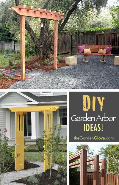 How to Build a Simple Garden Arbor Arbor ideas, Garden arbours - garden arbor plans designs