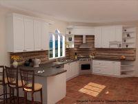 slate countertops brick floor in the kitchen - Google ...