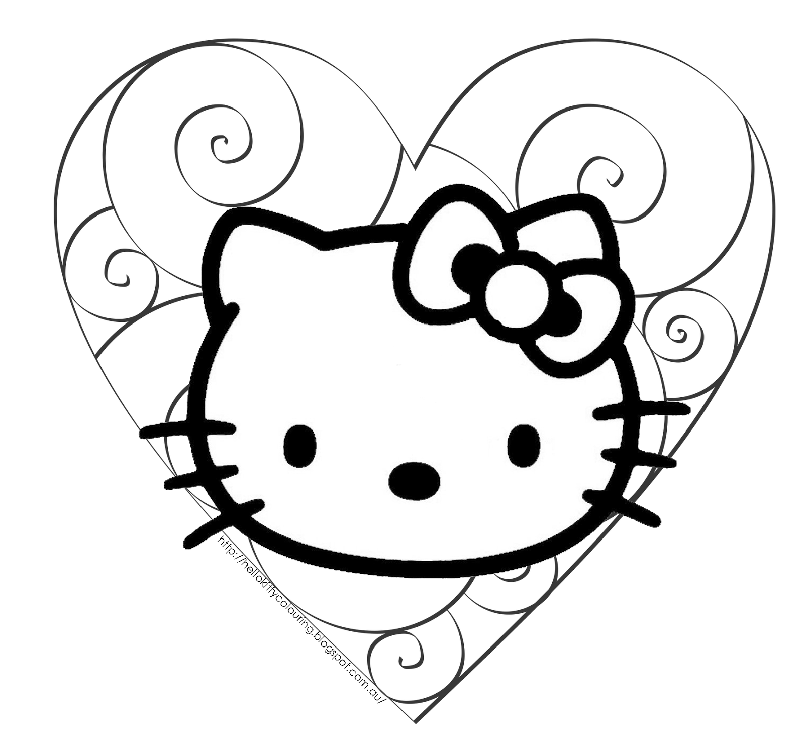 Download Share I Think My Favorite Coloring Page Here Is The One Of Hello Kitty