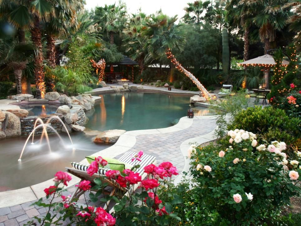 This backyard oasis is the perfect retreat for relaxation