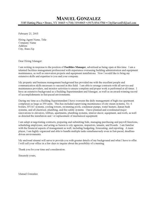 building superintendent resume