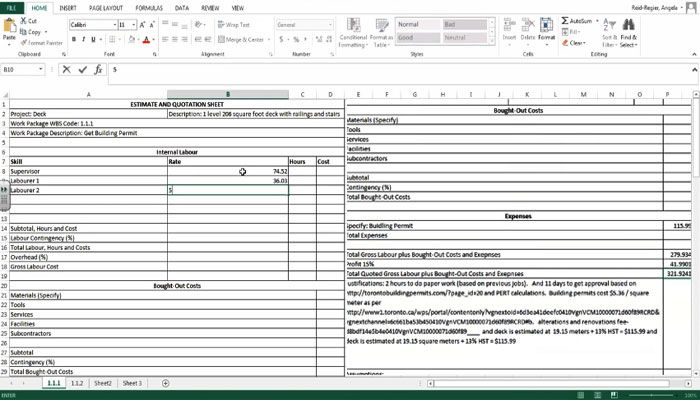 how to create an estimate