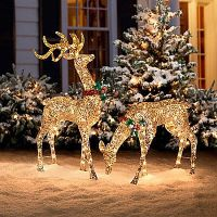 Glitter Sequin Buck & Doe Christmas Decor | Home stuff ...