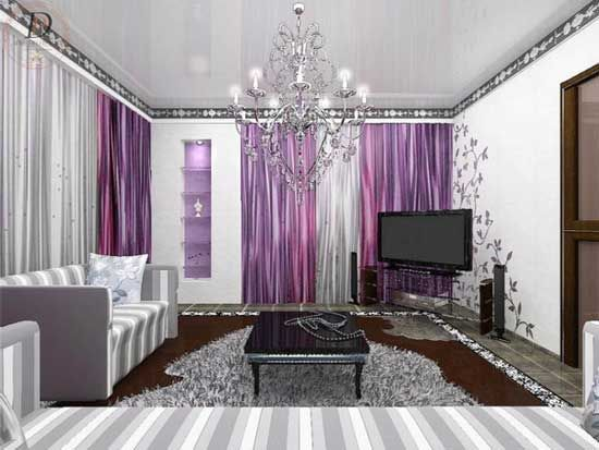 living rooms with purple Shiny Purple Living Room Designs u2013 via - purple living room decor