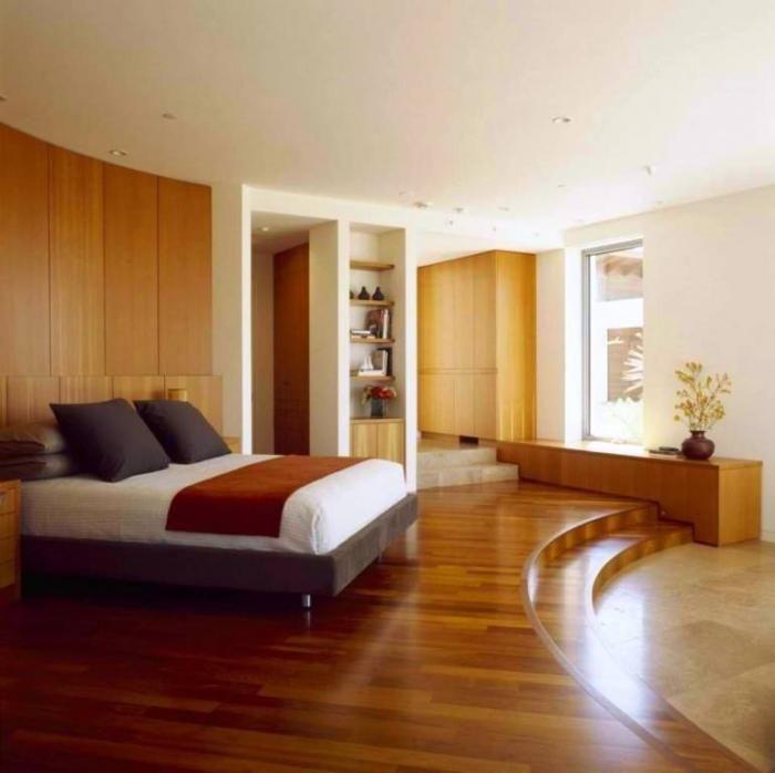 15 Amazing Bedroom Designs with Wood flooring - Rilane Bedroom - bedroom floor ideas