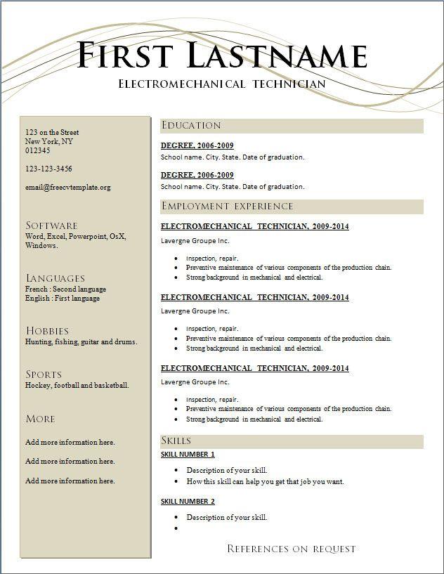 Resume Templates For Australian Jobs. sample student resume for ...