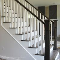 Image result for horizontal stair railing wood to basement ...