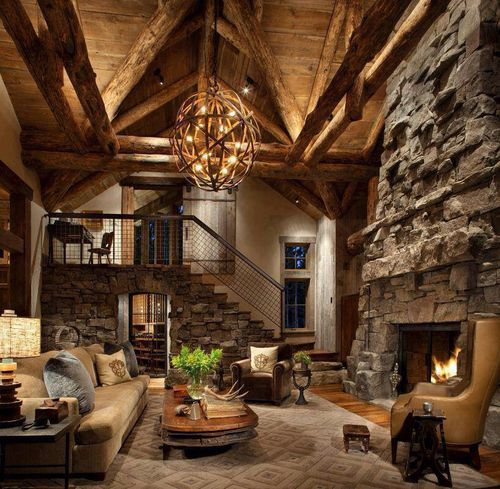 40 Awesome Rustic Living Room Decorating Ideas Log cabins, Cabin - log cabin living rooms