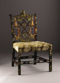 A Chinese Chippendale Style Side Chair. English. Early ...