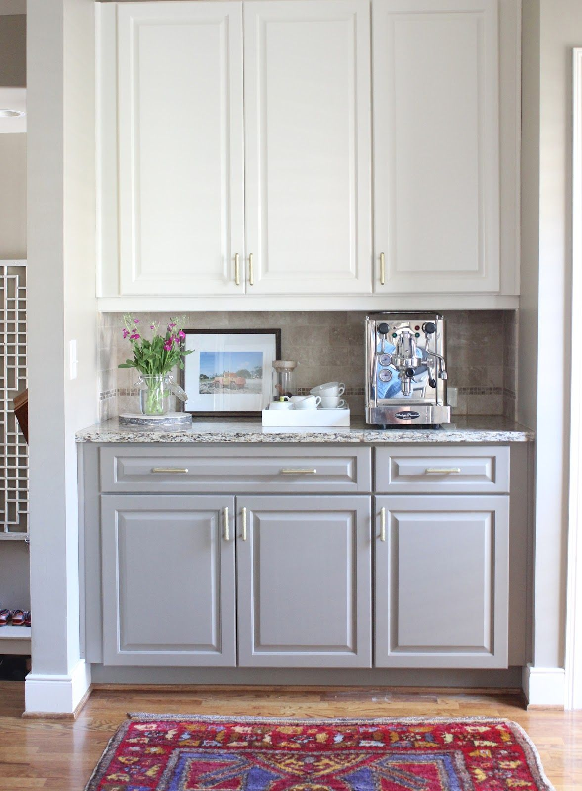 2 Tone Brown Kitchen Cabinets Two Toned Kitchen Cabinets White On Top Gray On