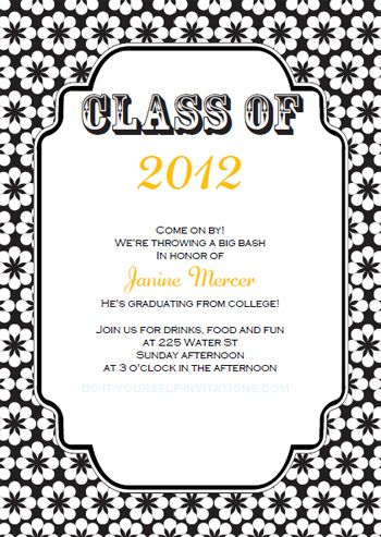 Free Printable College Graduation Announcements Download our - graduation invitation template