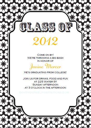Free Printable College Graduation Announcements Download our - graduation invitation template
