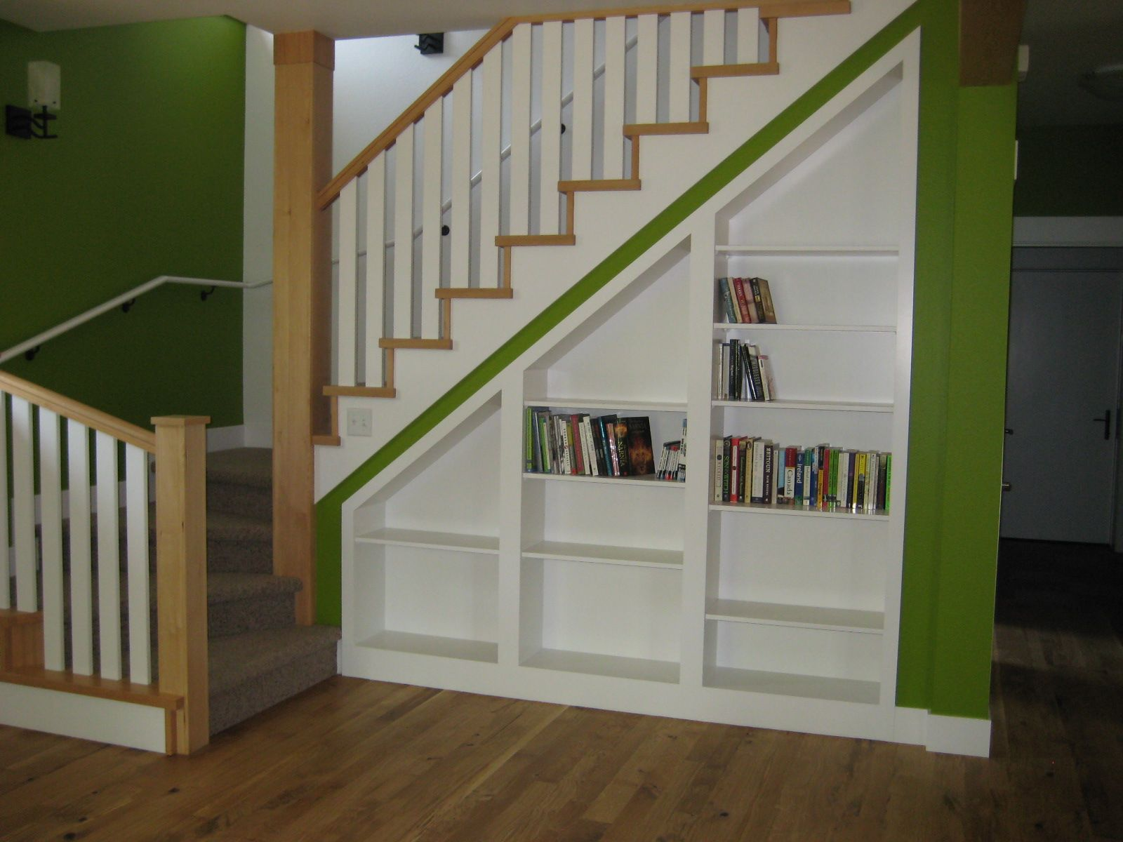 Stairs Shelving Chic Living Room Under The Stairs Design Of Home Design