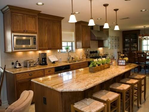 Granite Top Kitchen Island With Seating Kitchen Islands With Table Seating | Kitchen With Granite