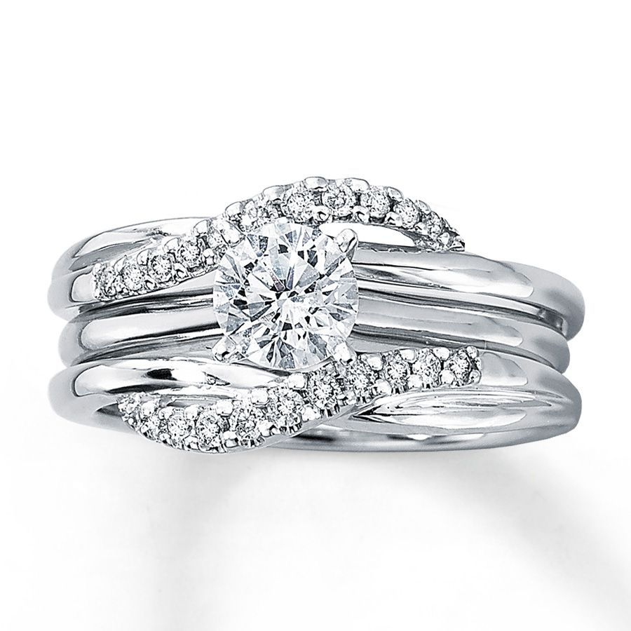 kays jewelry wedding rings Kay Diamond Enhancer Ring ct tw Round cut White Gold maybe in princess cut