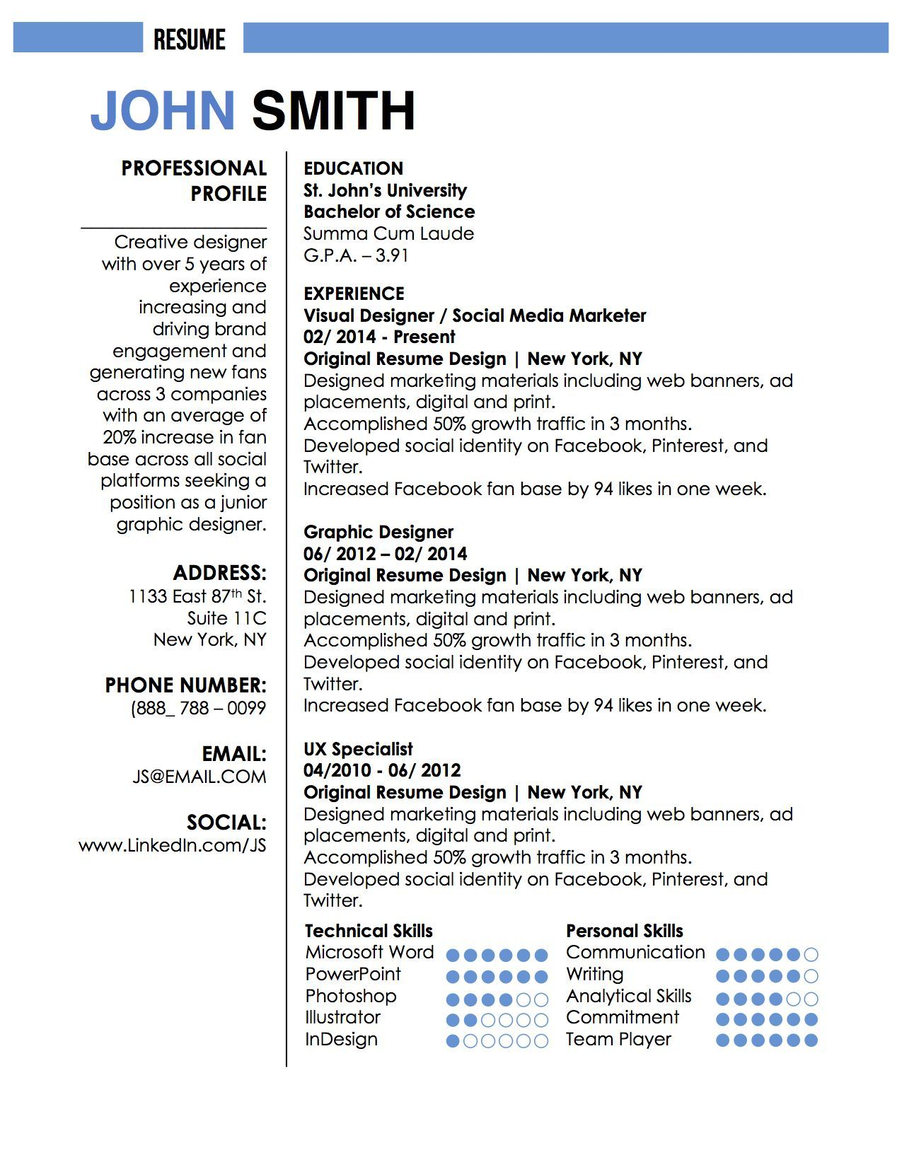 neuva smith professional cv resume template for microsoft word