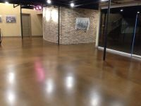 Commercial entry floor with metallic epoxy. This floor is ...
