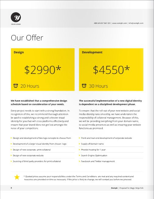 Freelance Designer Proposal Template for download at a great deal - website proposal template