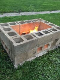 DIY fire pit made from cinder blocks | For the Home ...