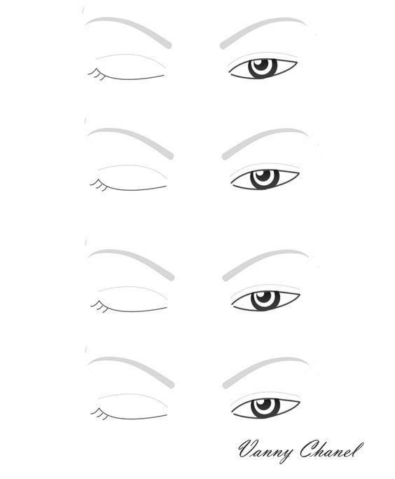 blank-eyejpg 1,162×1,409 pixels Eyemakeup Pinterest Face - eye chart template