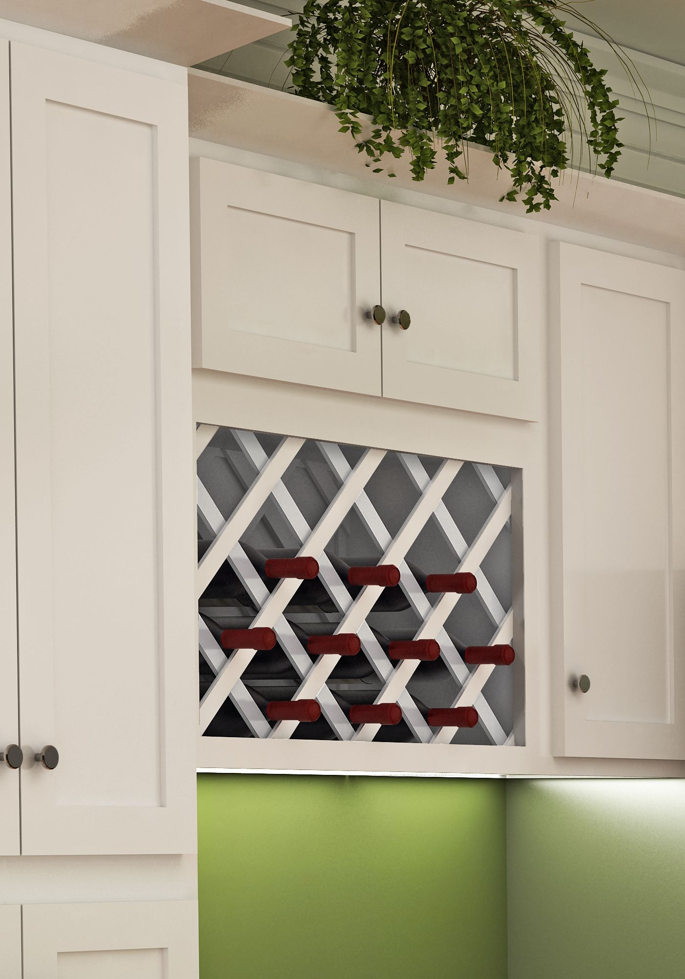 White Wall Wine Rack White Shaker Style Wall Wine Rack Dream Kitchens
