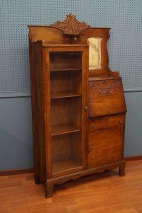 Victorian Side by Side Oak Desk Original Glass & Mirror ...