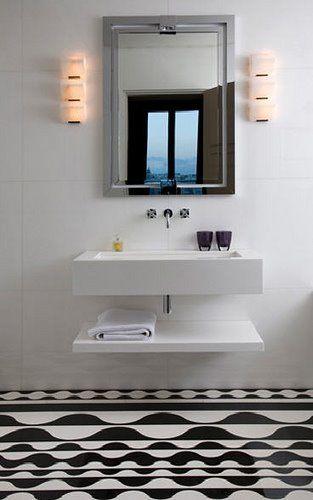 Simple Floating Shelf Under Wall Hung Basin House Ideas
