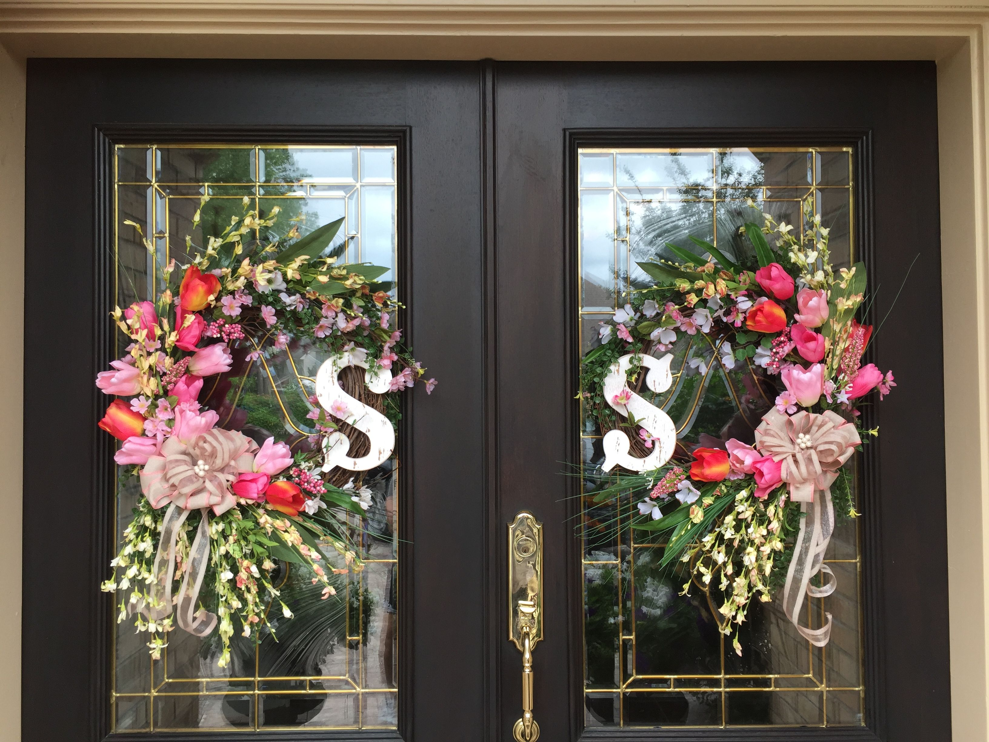 Both wreaths for double doors
