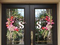 Both wreaths for double doors | Door wreaths/decorations ...