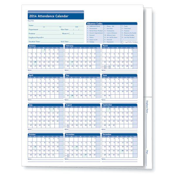 Attendance Calendar Templates monthly employee attendance - attendance calendar template