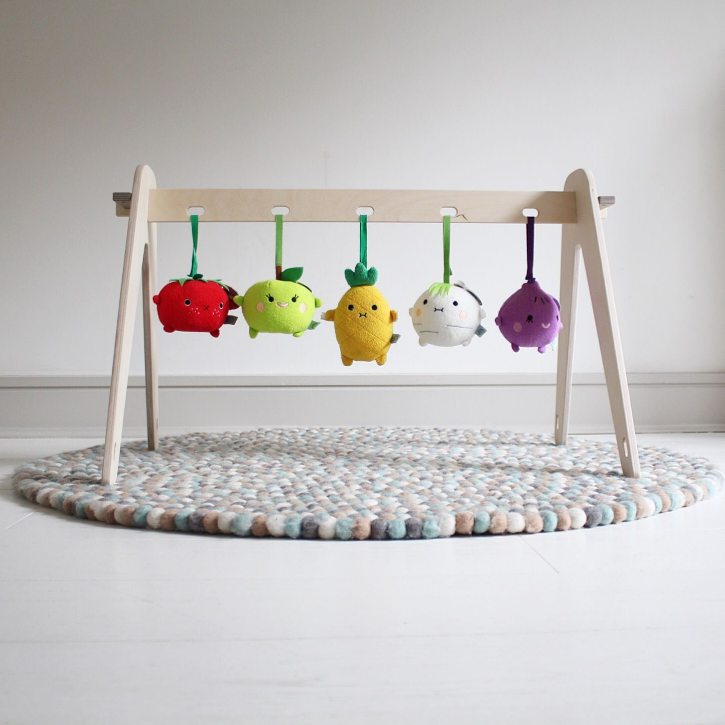 Cute Wooden Baby Gym To Diy Children Baby Kinderzimmer Baby Handmade Wooden Baby Play Gym With Noodoll Fruit And
