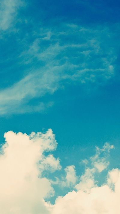 White Vintage Clouds Blu Sky iPhone 6 Plus HD Wallpaper | iPhone 5 Wallpapers. | Pinterest | Hd ...