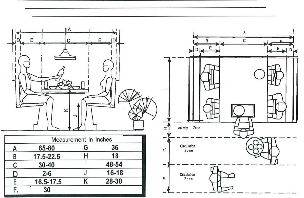 Kitchen Banquette Design Plans Measurements For A Breakfast Booth Floor Plans Booths