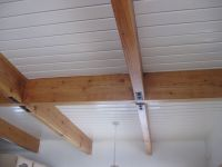 wood rafter white tongue groove ceiling - Google Search ...