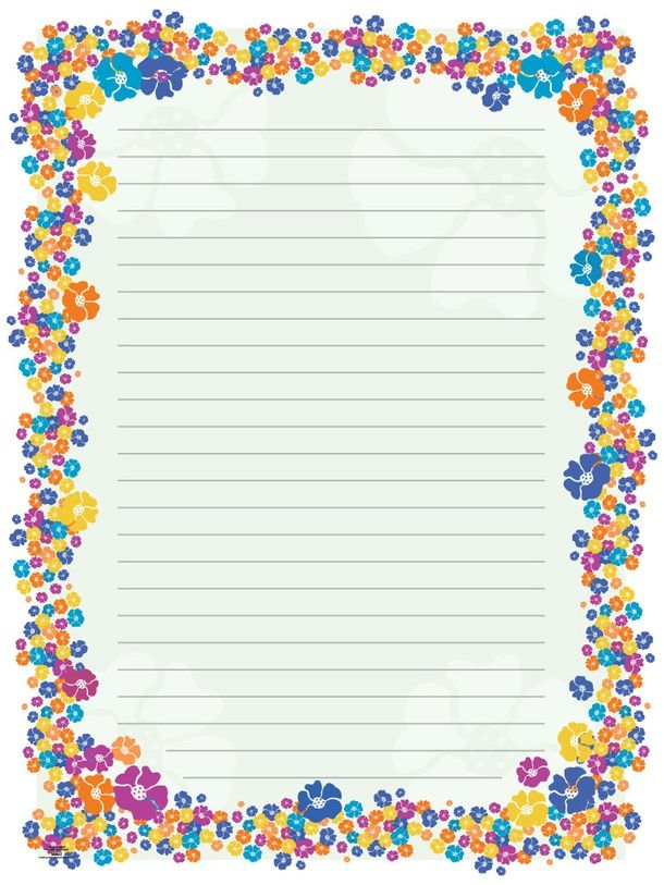 Blank Paper Flowers stationery\/borders for Adults Pinterest - lined border paper
