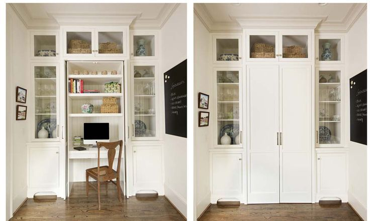 living room wall unit with a hidden desk - Google Search - desk in living room