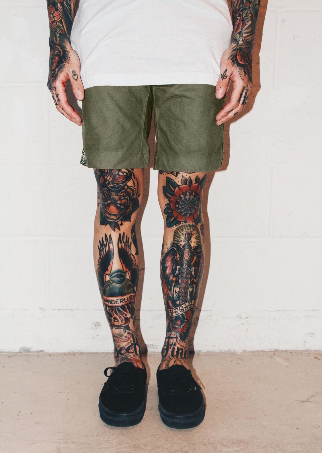 Olive signature shorts created to fit to perfection www hrdrvs com tattoo legsleg tattoosleg sleeve tattooankle