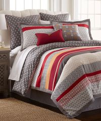 Look at this Red & Gray Tangiers Eight-Piece Comforter Set ...