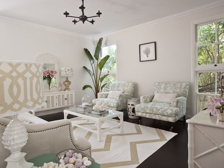 Seafoam green and beige living room design with light tan walls - gray and beige living room