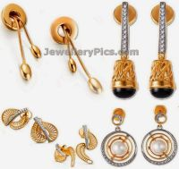 Gold earrings from tanishq Mia collection - Latest ...