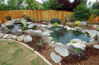 How to Build Small Waterfalls | Small Backyard Landscaping ...