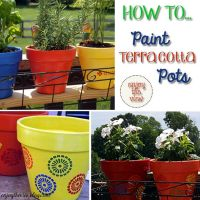 {enjoy the view} | how to paint terracotta pots | Terra ...