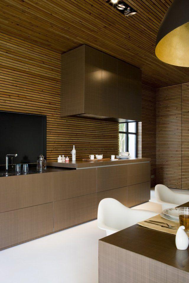 moderne Küchenmöbel-Ideen für Decken-und Wandgestaltung der Küche - wandgestaltung kuche modern