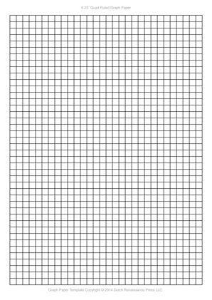 A4 Graph Paper, 025 inch quad ruled pdf Templates Pinterest - graphing paper printable template