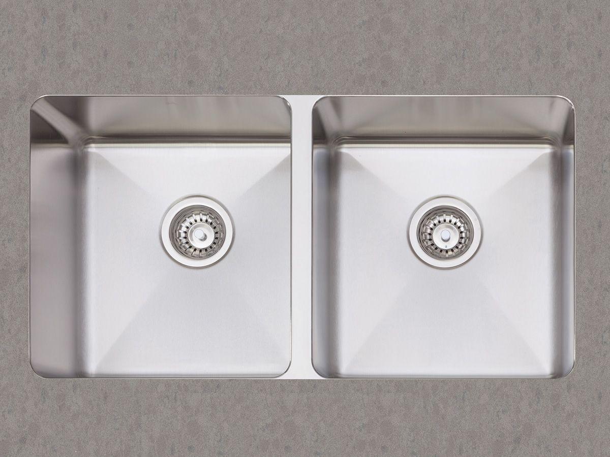 undermount kitchen sinks Afa Cubeline Double Undermount Kitchen Sink