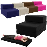 Single Chair Bed Z Guest Fold Out Futon Sofa Chairbed