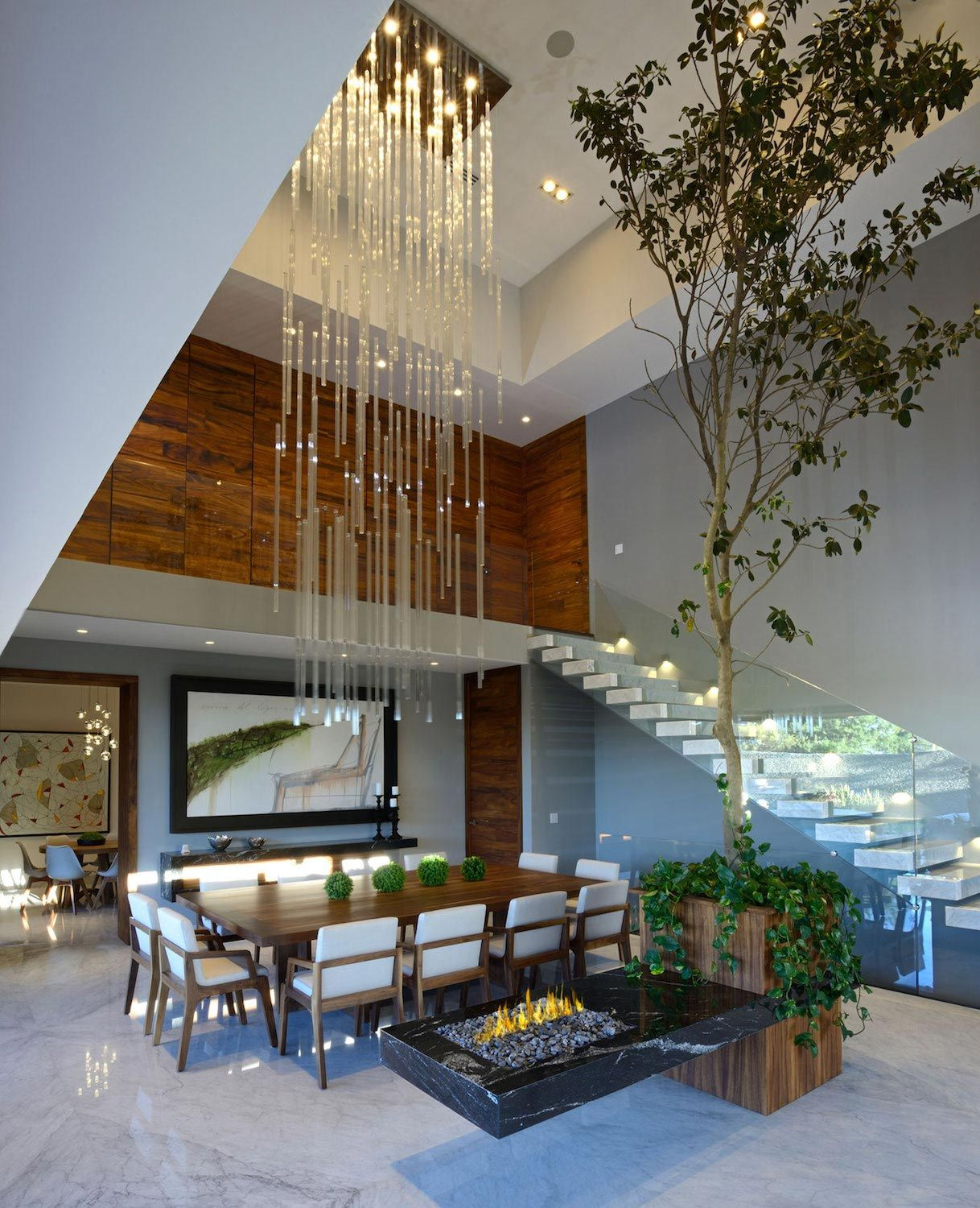 Height Of A House Modern Atrium House With Large Double Height Space Living