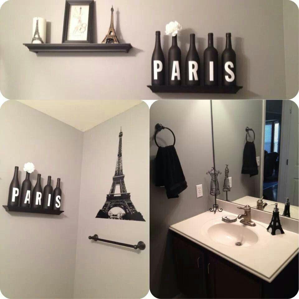 Ideas to spruce up my paris themed bathroom decor