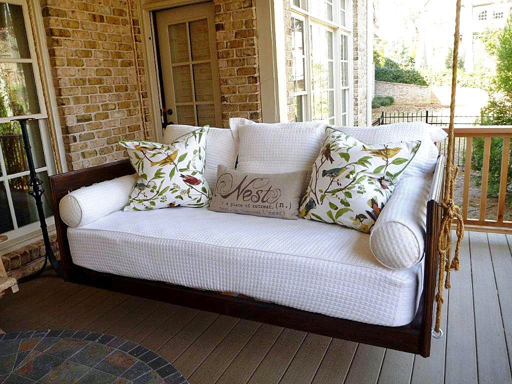 19 marvelous porch swing designs for spring enjoyment outdoor porch bedpatio